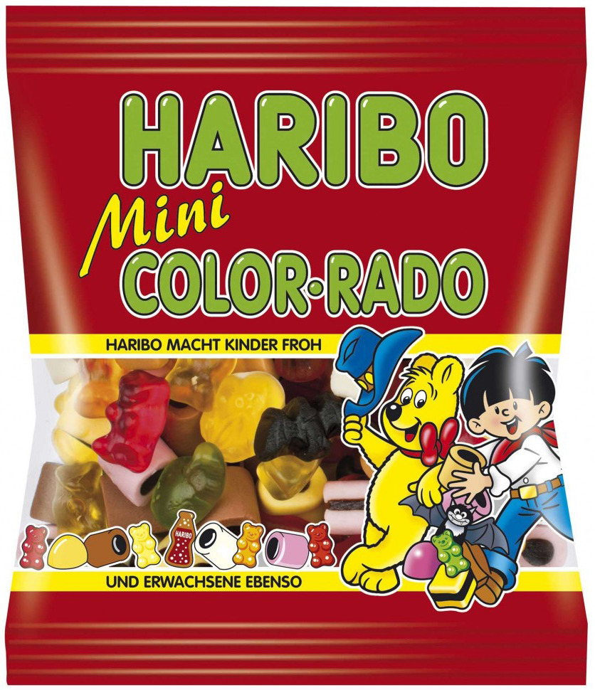 Haribo Мини Колор-Радо жевательный мармелад, 175 г победа вкуса шмелькино брюшко микс жевательный мармелад 250 г