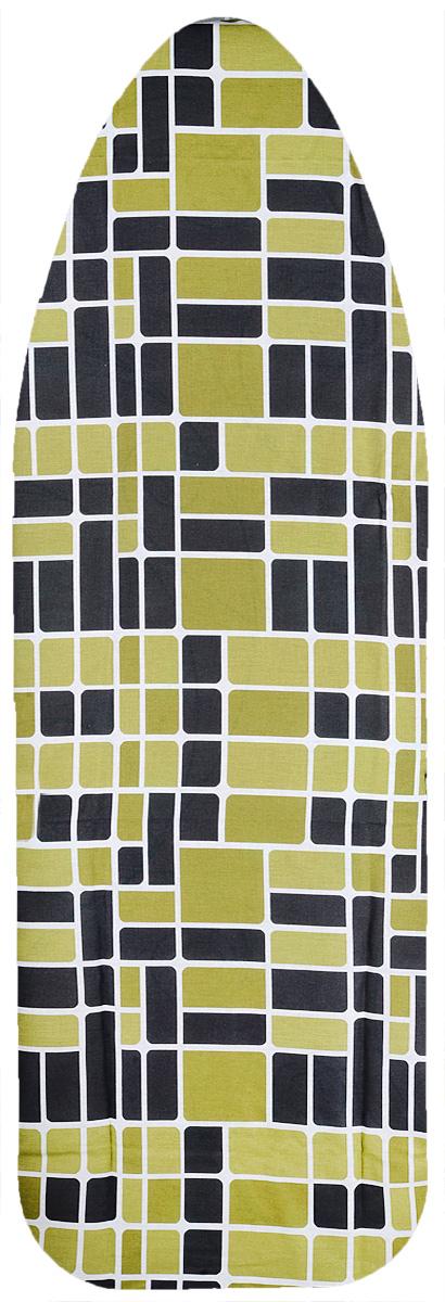 Чехол для гладильной доски Eurogold Basic, цвет: зеленый, темно-серый, размер S. С34 брюки мужские icepeak цвет темно зеленый 257090572iv размер 52