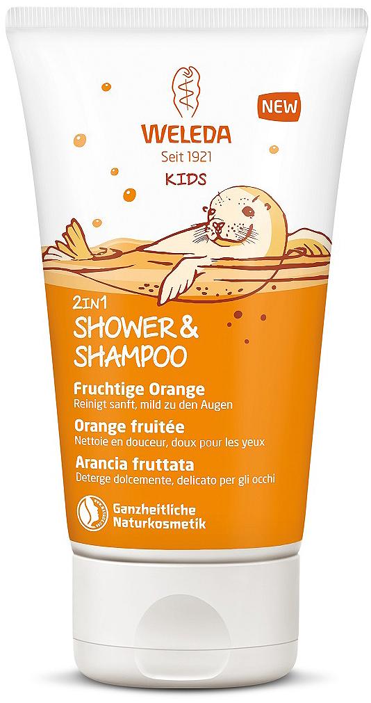 Шампунь-гель для волос и тела Weleda Kids, детский, апельсин, 150 мл