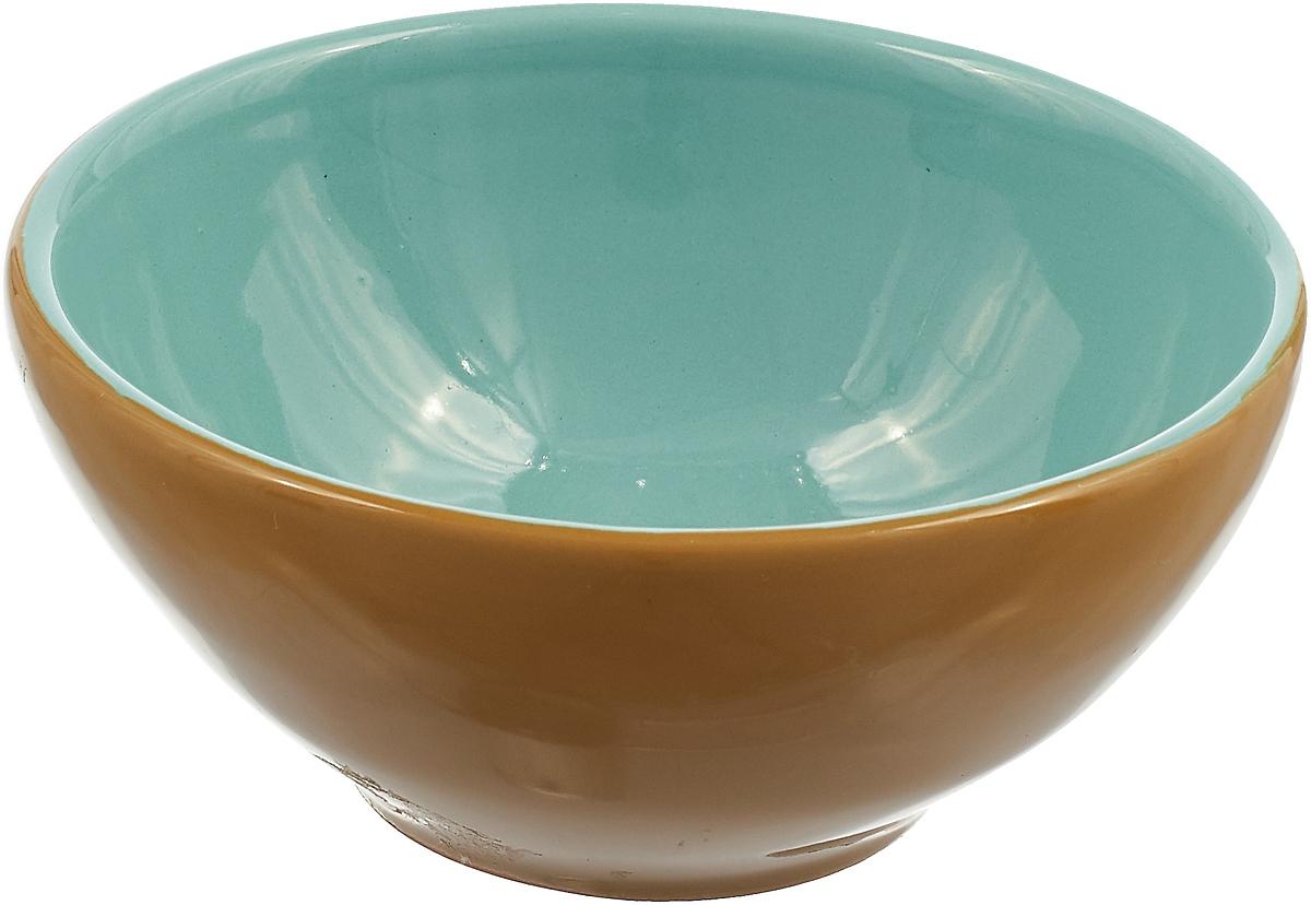 Розетка для варенья Борисовская керамика Радуга, цвет: горчичный, бирюзовый, 200 мл розетка для варенья борисовская керамика радуга цвет голубой 200 мл