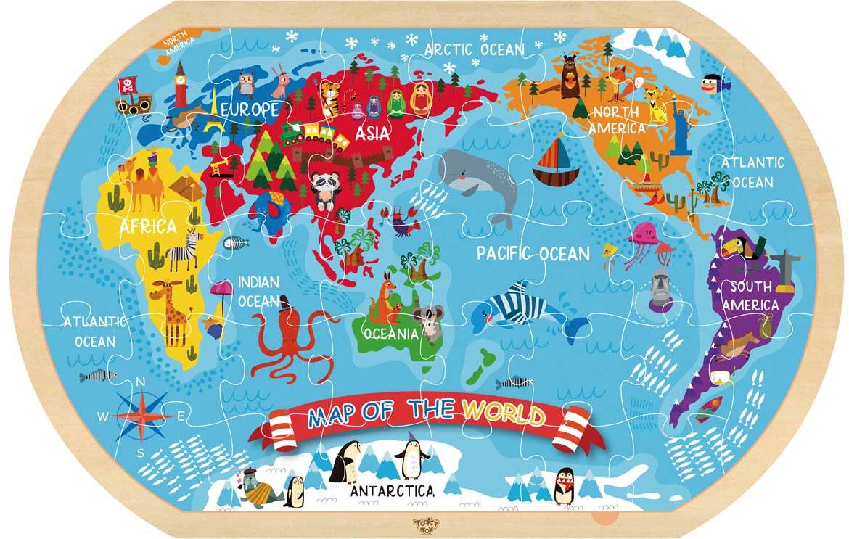 Tooky Toy Пазл Карта мира TY123 цены онлайн