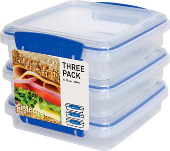 Контейнер пищевой Sistema 1643, Пластик контейнер для сэндвичей sistema цвет прозрачный фиолетовый розовый 450 мл