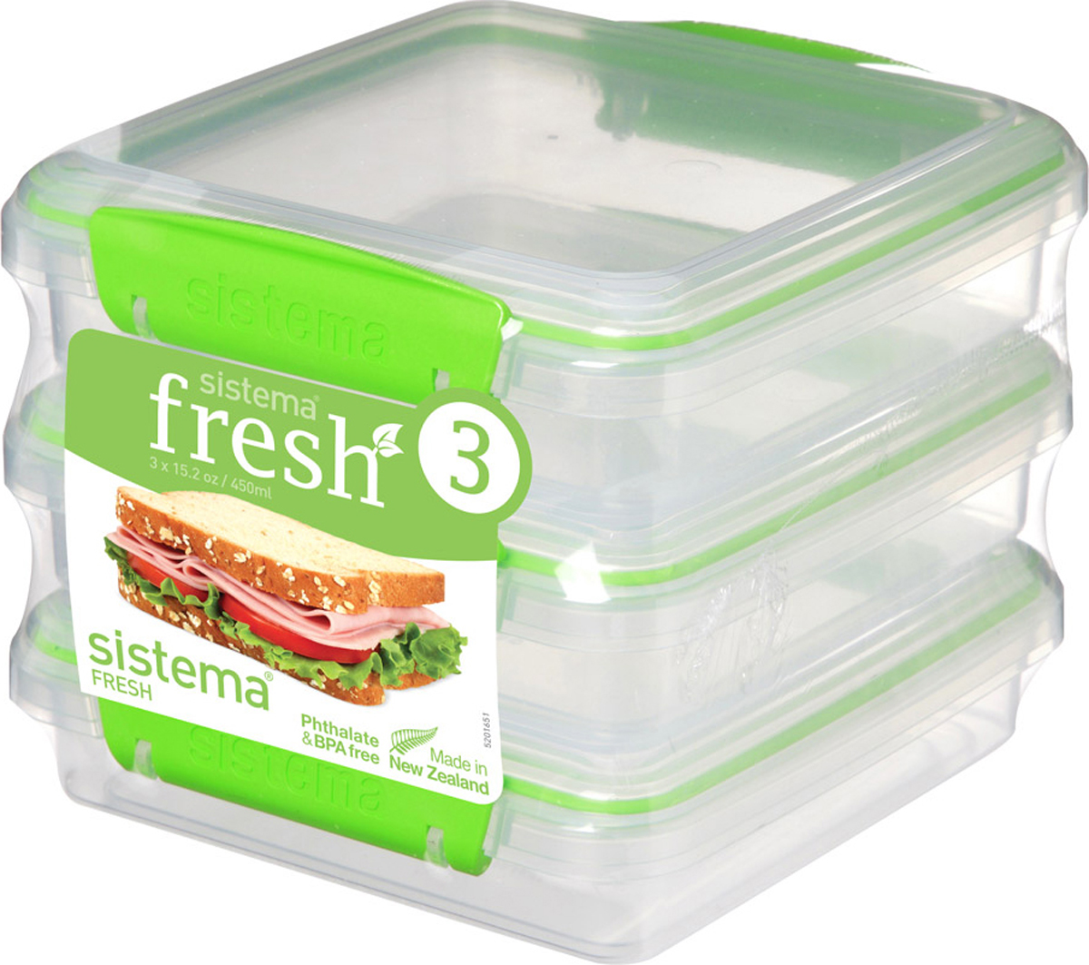 Контейнер пищевой Sistema 951643, Пластик контейнер для сэндвичей sistema цвет прозрачный фиолетовый розовый 450 мл