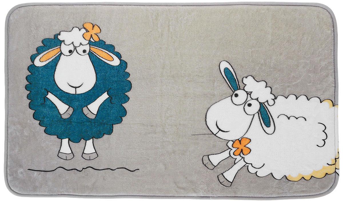 Коврик для ванной комнаты Tatkraft Funny Sheep, 50 см х 80 см коврик для ванной комнаты tatkraft funny cats 50 х 80 см