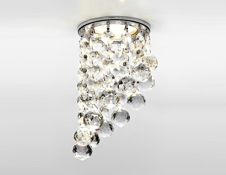 Светильник Ambrella, светодиодный, точечный, цвет хром, 50w. K205CCL/CH встраиваемый светильник ambrella led s299 s299 ch