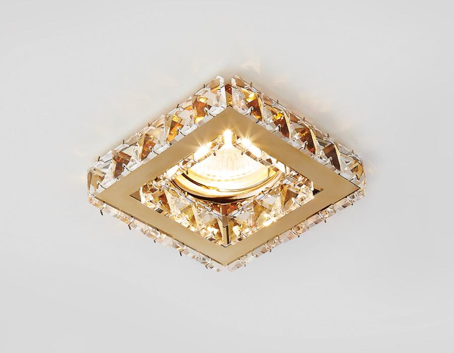 Светильник Ambrella, светодиодный, точечный, цвет золотой, 50w. K110CL/G elvan точечный светильник elvan g9 c1115 s g