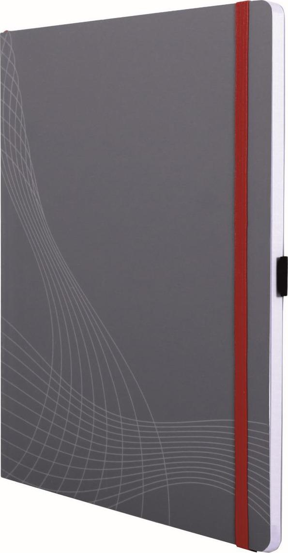 Блокнот для записей Avery Zweckform Notizio, А4, в клетку, цвет: серый, 80 листов
