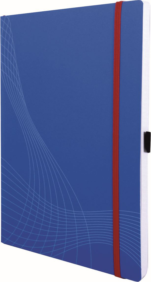 Блокнот для записей Avery Zweckfrom Notizio, А4, в клетку, цвет: синий, 80 листов