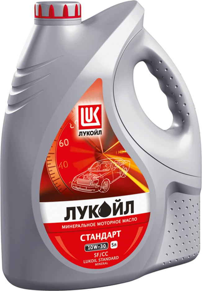 Масло моторное ЛУКОЙЛ СТАНДАРТ, минеральное, 10W-30, SF/CC, 5 л