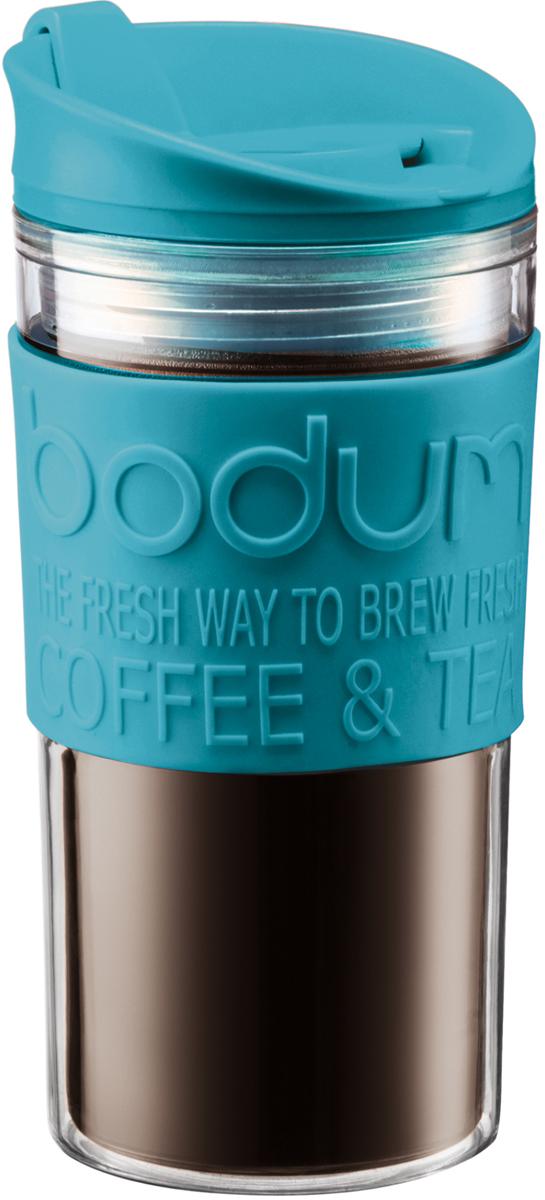 Кружка дорожная Bodum Travel, цвет: бирюзовый, 350 мл