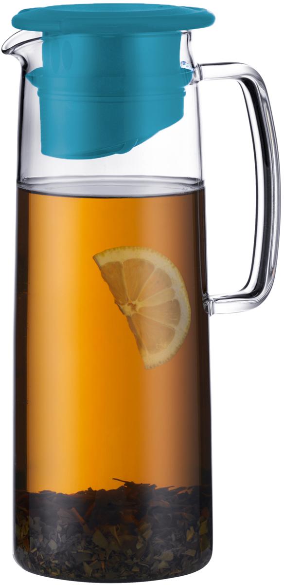 Кувшин для напитков Bodum Biasca, с фильтром, цвет: бирюзовый, 1,2 лA11575-978-Y18