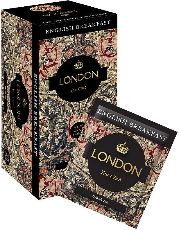 Чай черный в сашетах London Tea Club English Breakfast, 25 шт