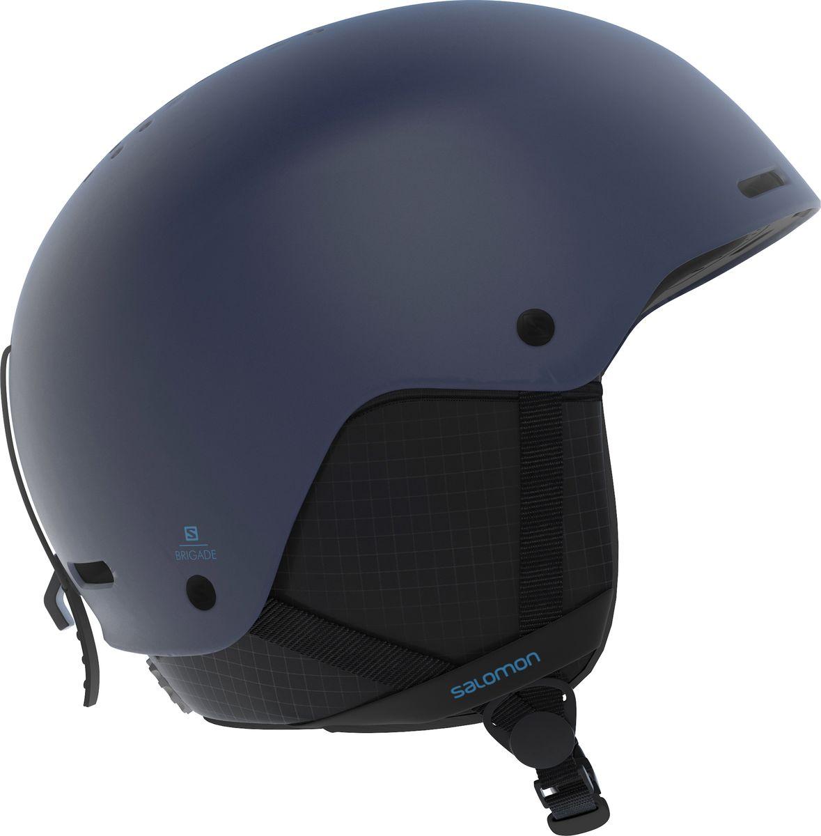 Шлем горнолыжный Salomon Brigade Dress, цвет: синий. Размер M (56-59) шлем горнолыжный salomon helmet brigade audio grey forest gr размер l 58 59