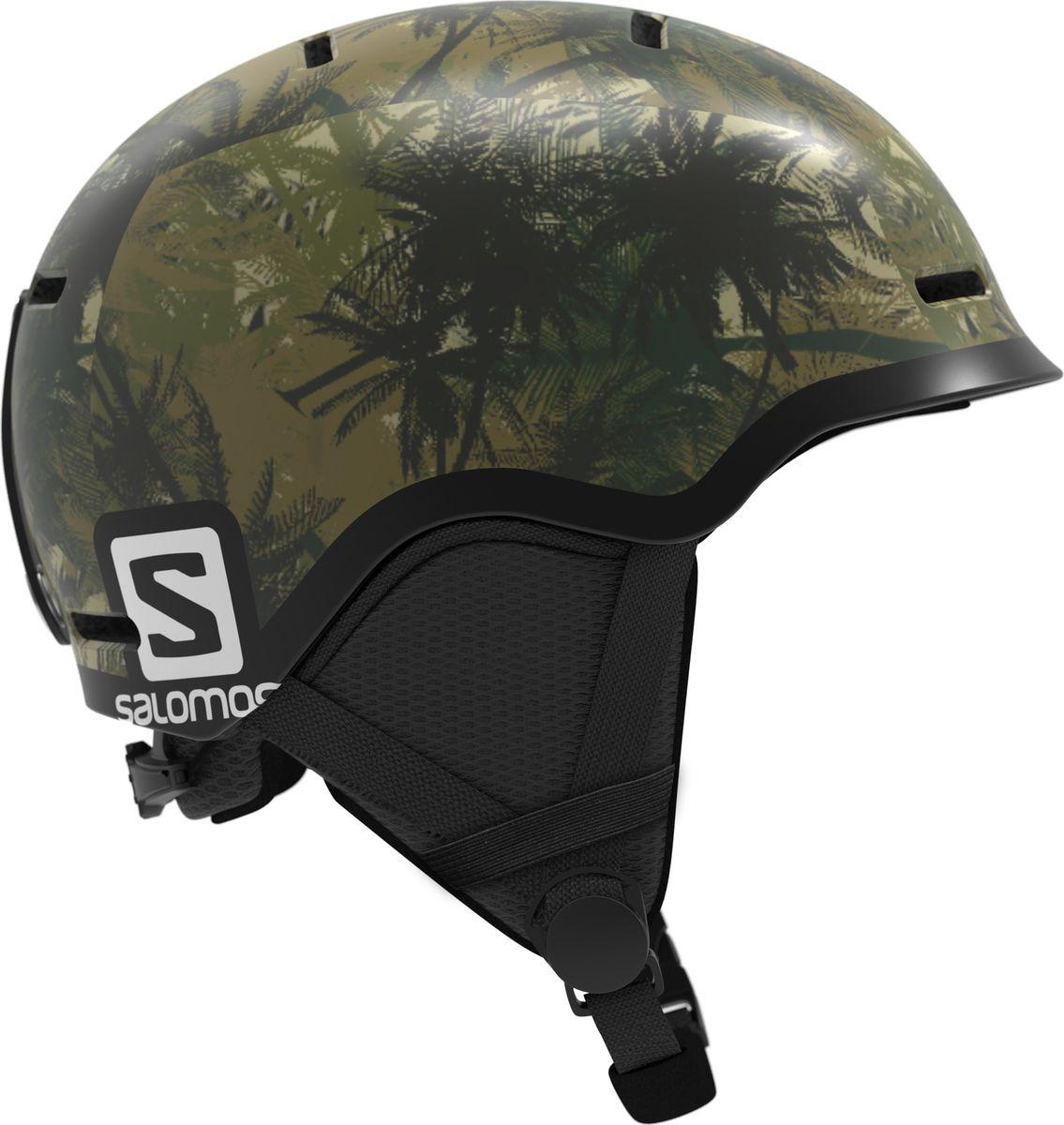 Шлем горнолыжный Salomon Grom, детский, цвет: зеленый. Размер S (49-53) горнолыжный шлем salomon salomon allium custom air черный s 53 56