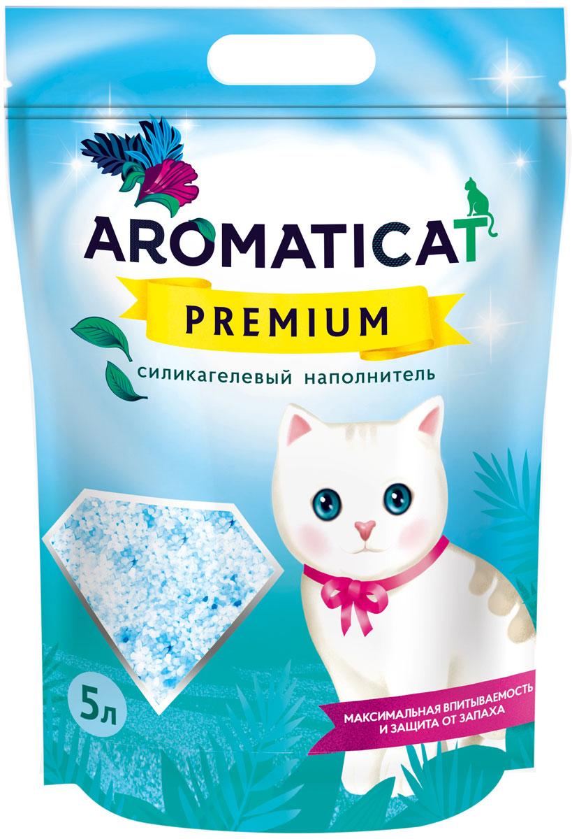 Наполнитель для кошачьего туалета Aromaticat Premium, силикагелевый, 5 л цена в Москве и Питере