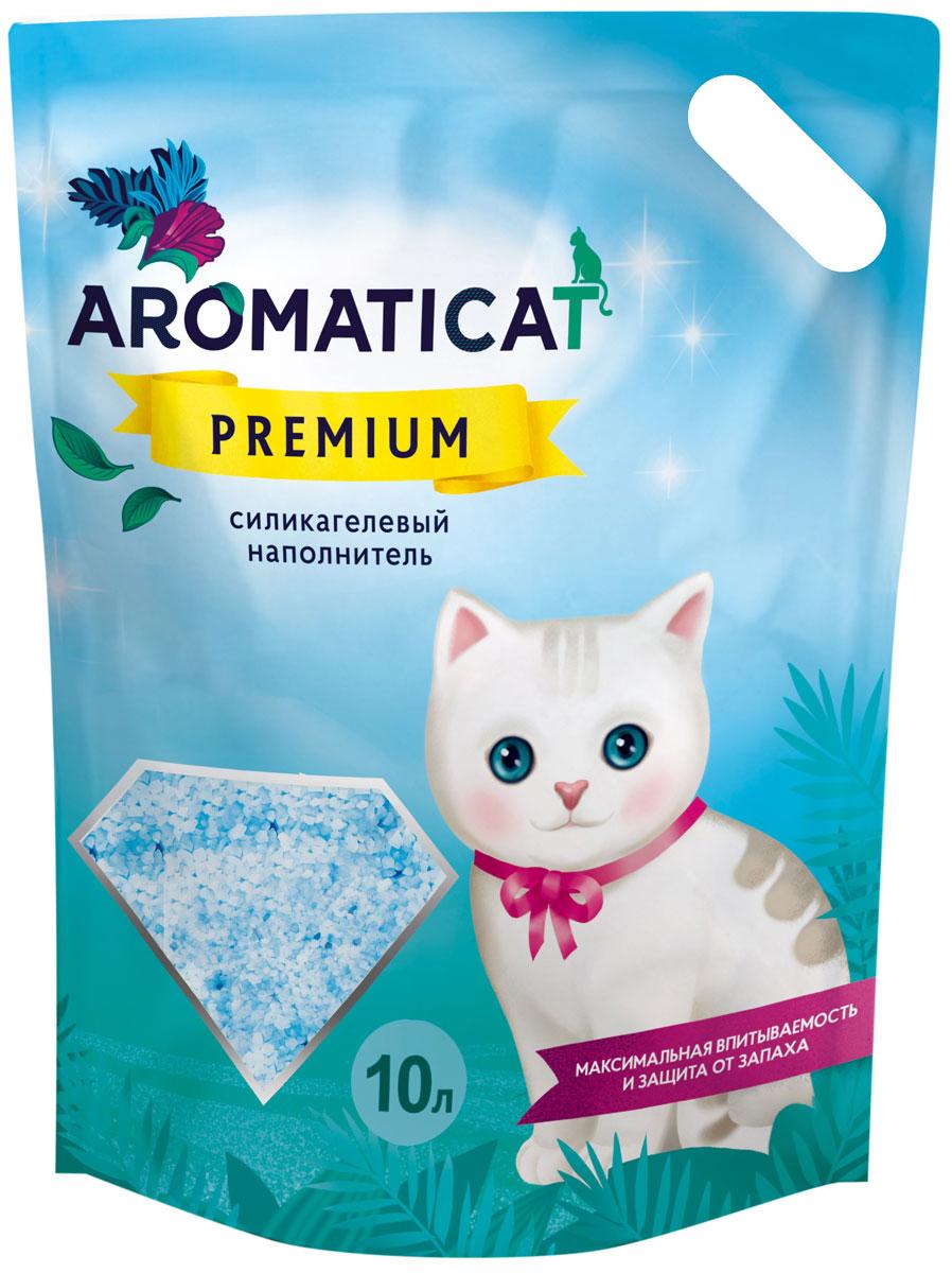 Наполнитель для кошачьего туалета Aromaticat Premium, силикагелевый, 10 л цена в Москве и Питере