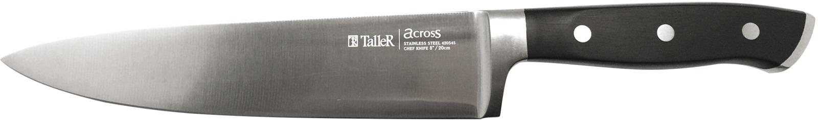 Нож поварской Taller, длина лезвия 20 см. TR-2020 нож универсальный taller длина лезвия 13 см tr 2048