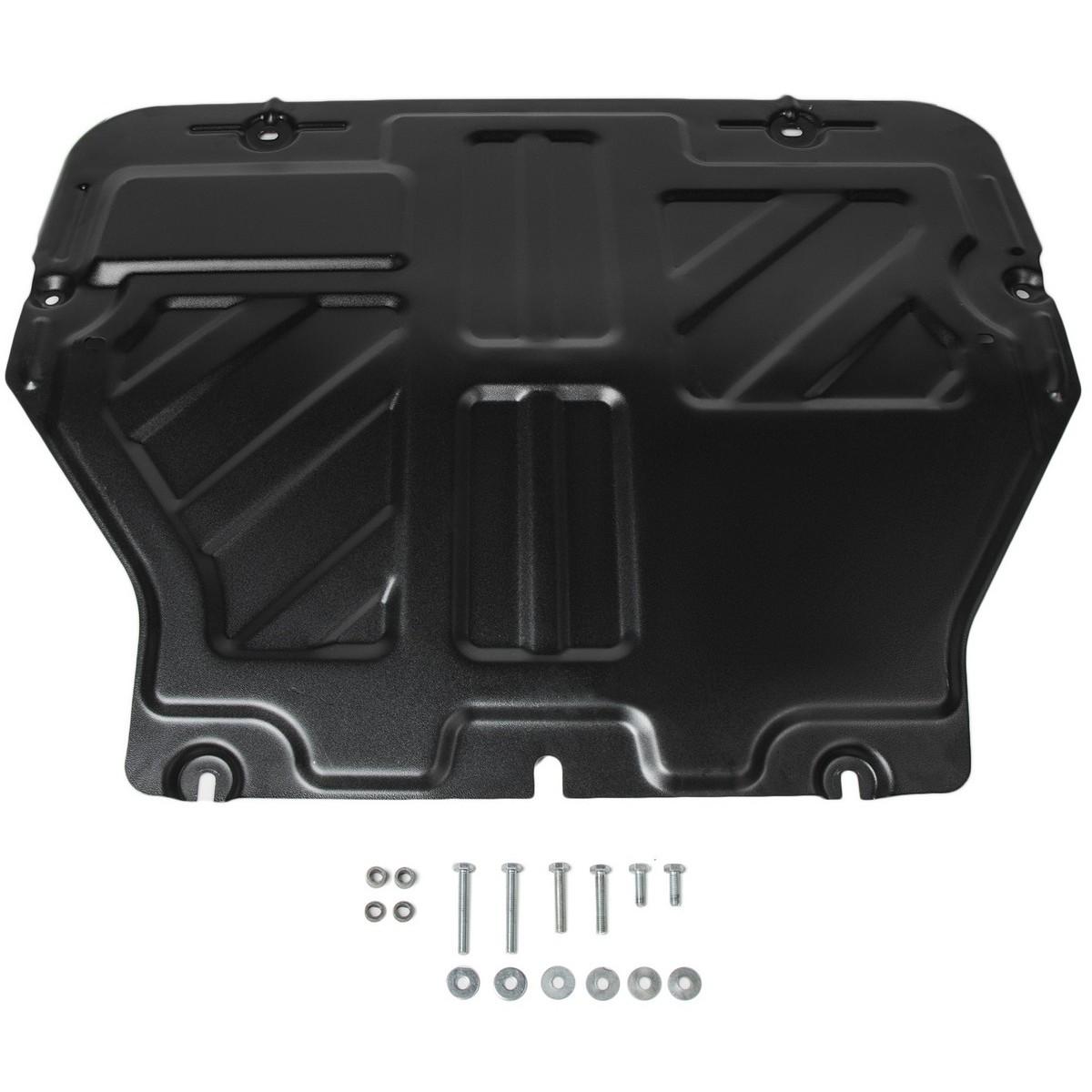 Защита картера и КПП Rival, для Volkswagen Caravelle, Multivan, Transporter T5/T6 2003-2015 2015-н.в., сталь 2 мм, крепеж в комплекте. 111.5806.2111.5806.2Защита картера и КПП Rival для Volkswagen Caravelle, Multivan, Transporter T5/T6 (V - все) 2003-2015 2015-н.в., крепеж в комплекте, сталь 2 мм, 111.5806.2 Стальные защиты картера Rival надежно защищают днище вашего автомобиля от повреждений при наезде на бордюры, выступающие канализационные люки, кромки поврежденного асфальта или при ремонте дорог, не говоря уже о загородных дорогах. Основными преимуществами продукта являются: - Имеет оптимальное соотношение цена-качество. - Спроектированы с учетом особенностей автомобиля, что делает установку удобной. - Является надежной защитой для важных элементов на протяжении долгих лет. - Глубокий штамп дополнительно усиливает конструкцию защиты. - Подштамповка в местах крепления защищает крепеж от срезания. - Технологические отверстия там, где они необходимы для смены масла и слива воды, оборудованные заглушками, надежно закрепленными на защите. В комплекте инструкция по установке. Уважаемые клиенты! Обращаем ваше внимание, на тот факт, что защита имеет форму, соответствующую модели данного автомобиля. Наличие глубокого штампа и лючков для смены фильтров/масла предусмотрено не на всех защитах. Фото служит для визуального восприятия товара.