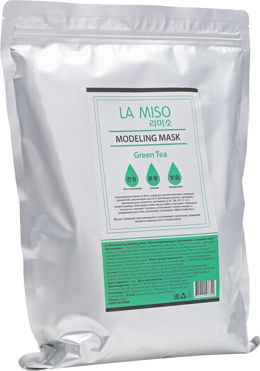 La Miso, Маска моделирующая (альгинатная) с зеленым чаем, Green tea, 1000 г шампунь la miso la miso la080lwqmm40