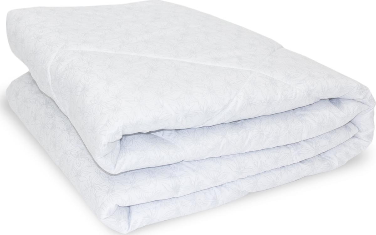 Одеяло Daily by T Шалфей, наполнитель: полиэфир, цвет: белый, 140 х 200 см одеяла daily by t одеяло алоэ вера 175х200 см