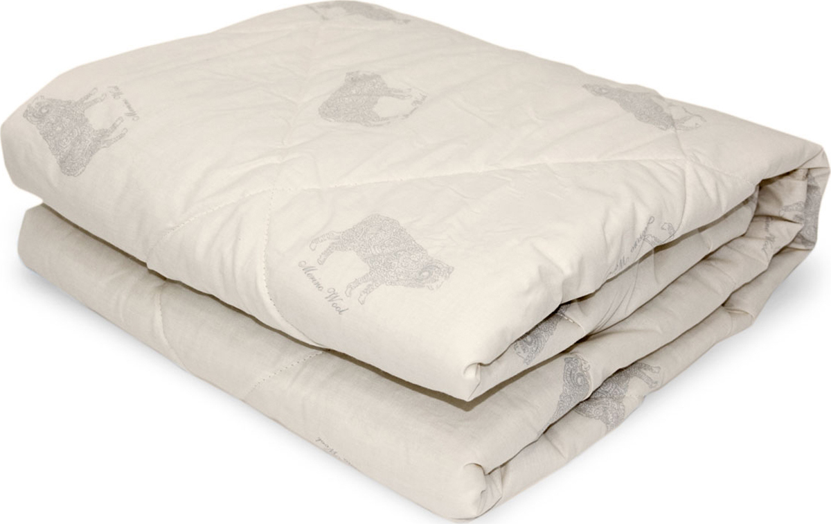 Одеяло Classic by T Мерино, наполнитель: полиэфир, шерсть мериноса, цвет: бежевый, 175 х 200 см одеяло classic by t кашемир натурэль наполнитель кашемир полиэфир цвет бежевый 175 х 200 см