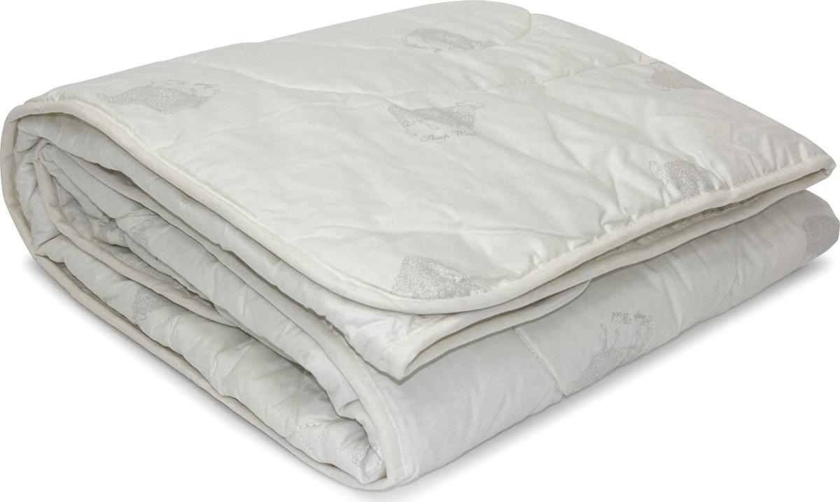 Одеяло Classic by T Коридэйл, наполнитель: полиэфир, овечья шерсть, цвет: светло-бежевый, 200 х 210 см одеяло relax wool легкое цвет светло бежевый 200 х 220 см