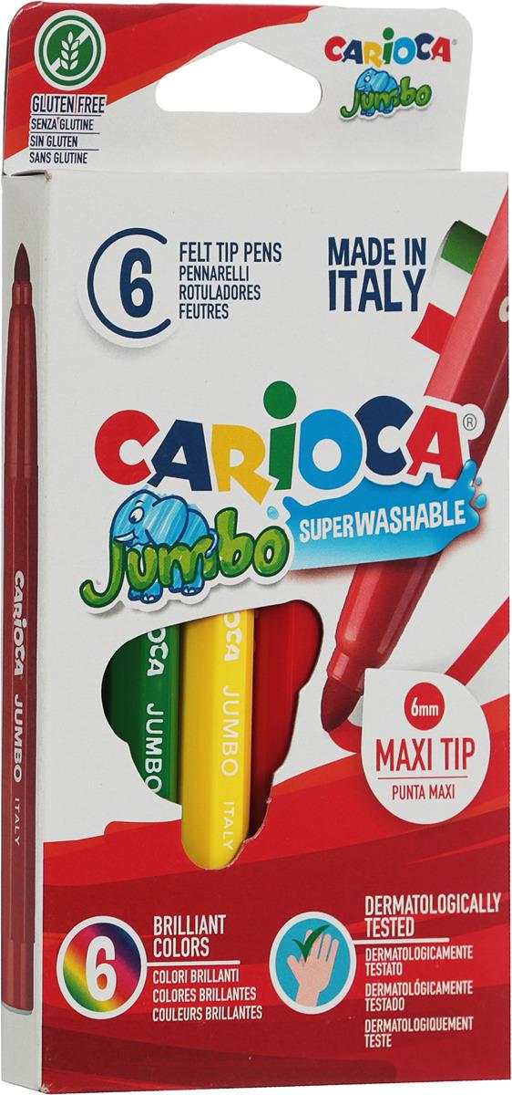 """Фломастеры """"Carioca (Кариока) Jumbo"""", 6 цветов. 40568"""
