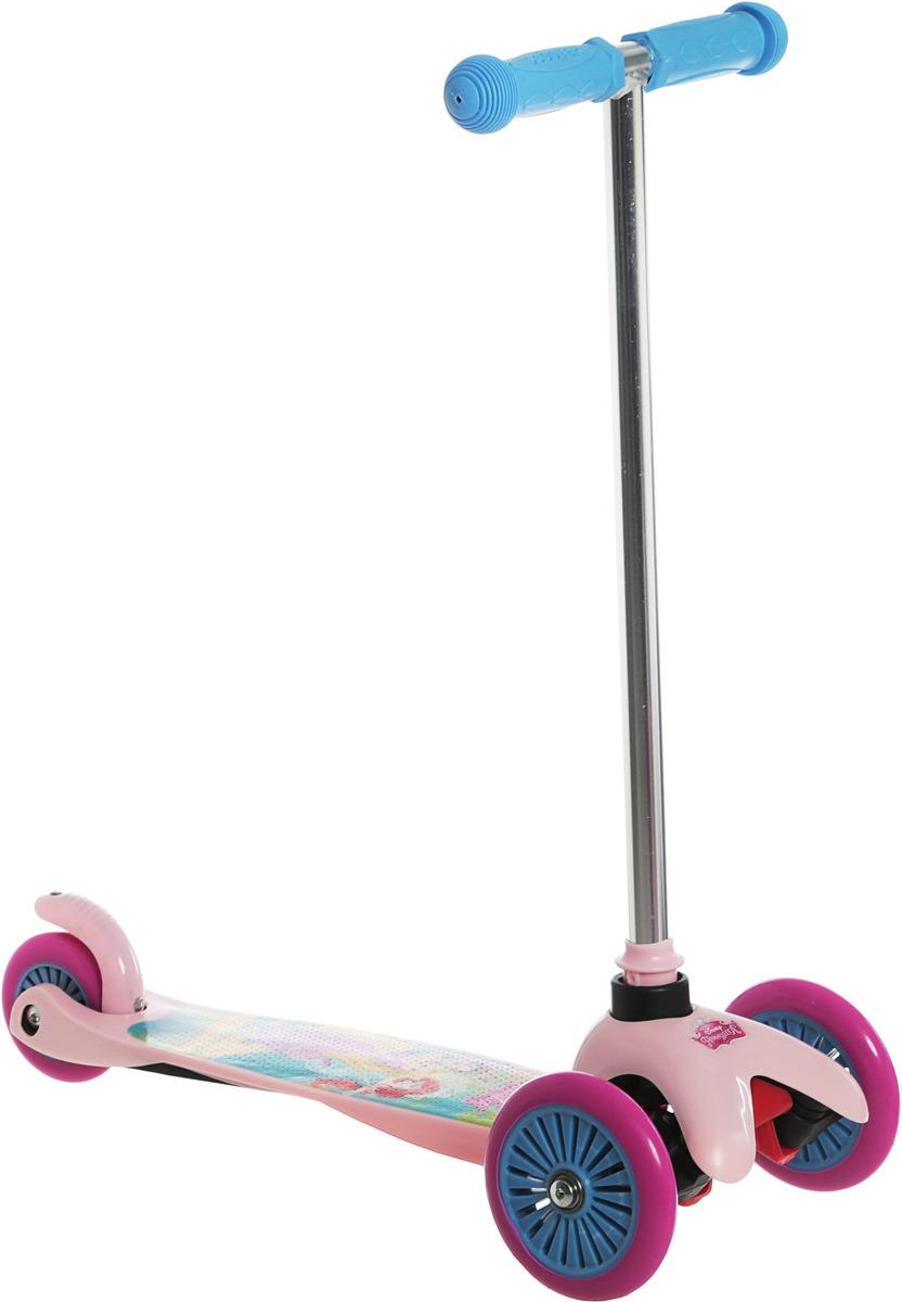 Самокат детский 1TOY Disney. Принцессы, трехколесный, цвет: розовый самокат трехколёсный 1toy disney софия 12 10 сиреневый