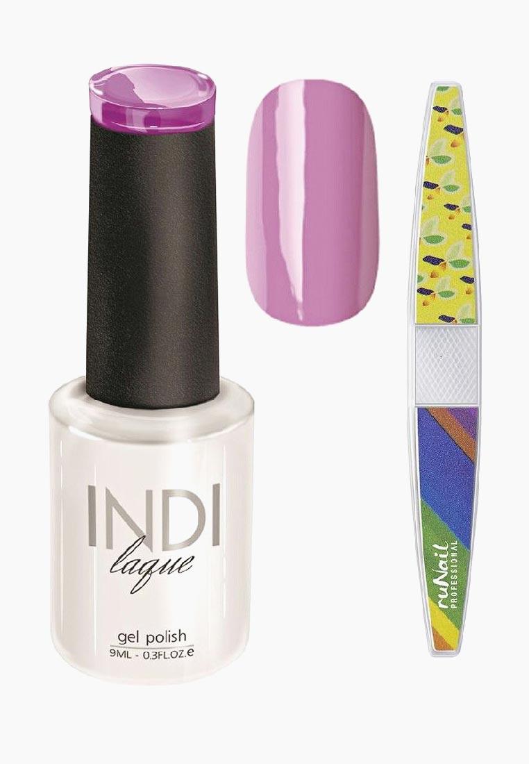 Набор для нейл-арта RuNail Professional пилка для ногтей и Гель-лак INDI laque Тон №3086 9 vivienne sabo gel laque nail atelier гель лак для ногтей тон 119 12 мл