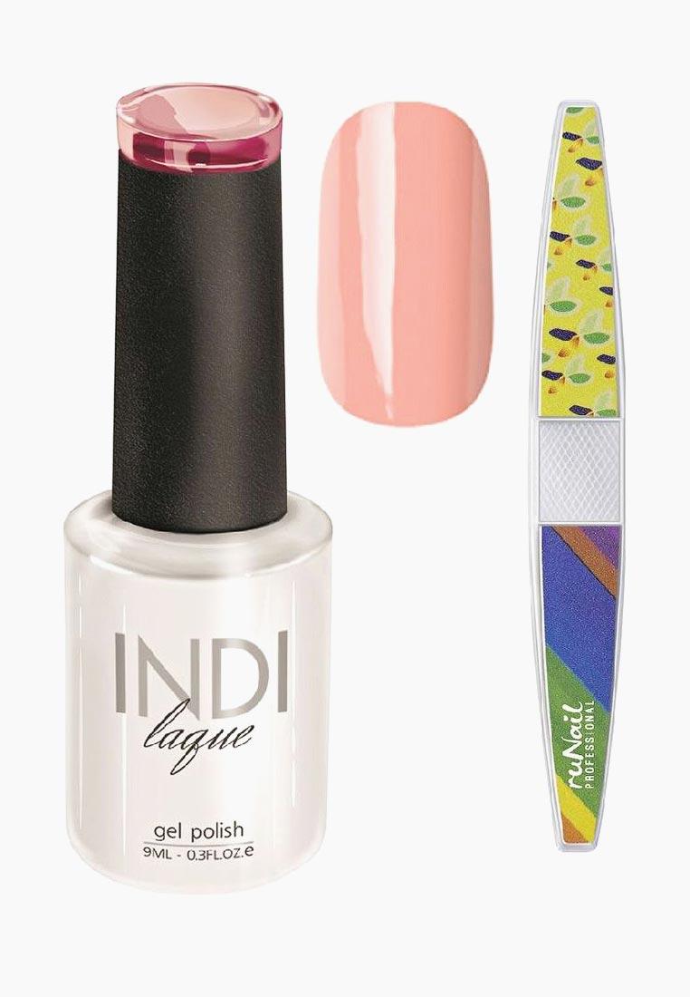 цены на Набор для нейл-арта: пилка для ногтей RuNail Professional + Гель-лак INDI laque, тон №3071, 9 мл  в интернет-магазинах