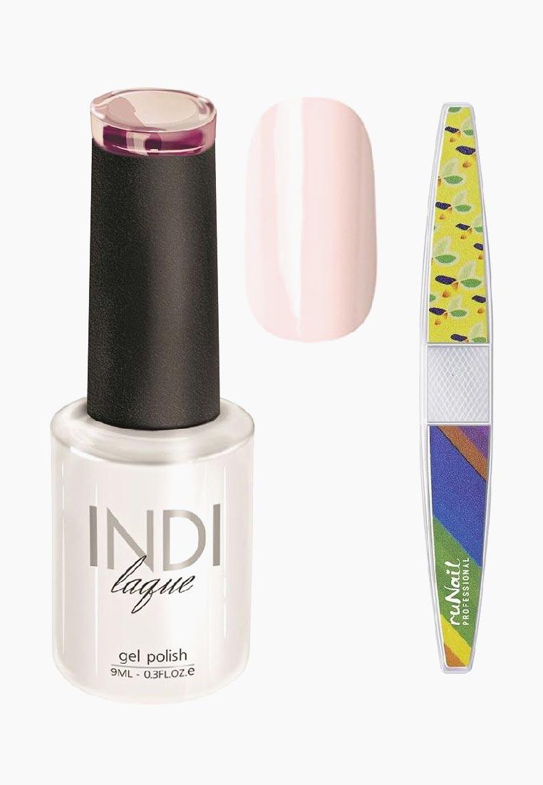 Набор для нейл-арта: пилка для ногтей RuNail Professional + Гель-лак INDI laque, тон №3062, 9 мл vivienne sabo gel laque nail atelier гель лак для ногтей тон 119 12 мл