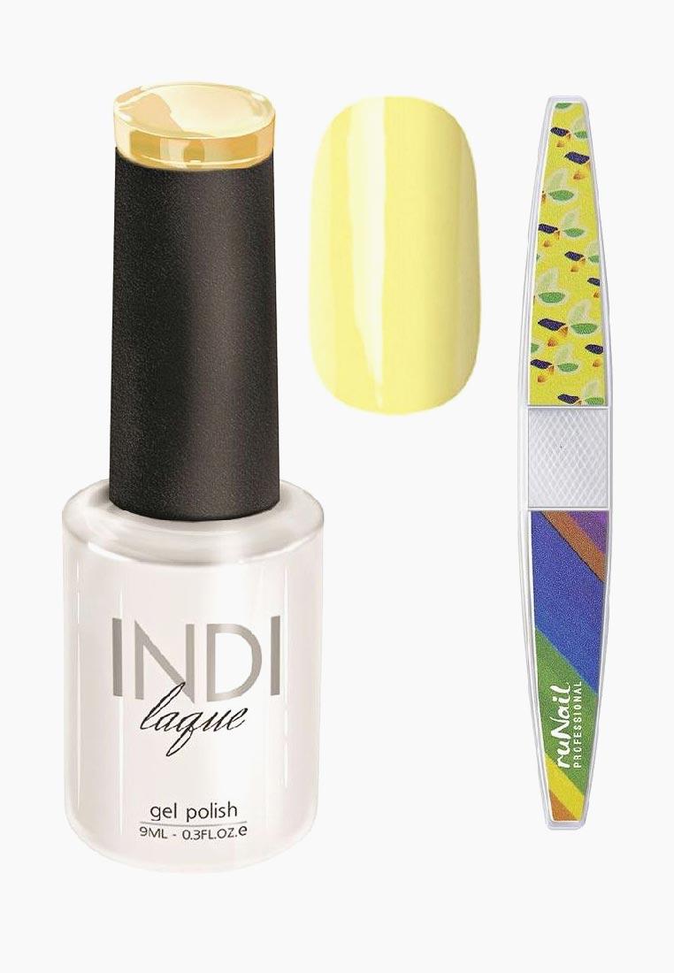 Набор для нейл-арта RuNail Professional: пилка для ногтей + гель-лак Indi Laque, тон 3076, 9 мл vivienne sabo gel laque nail atelier гель лак для ногтей тон 119 12 мл