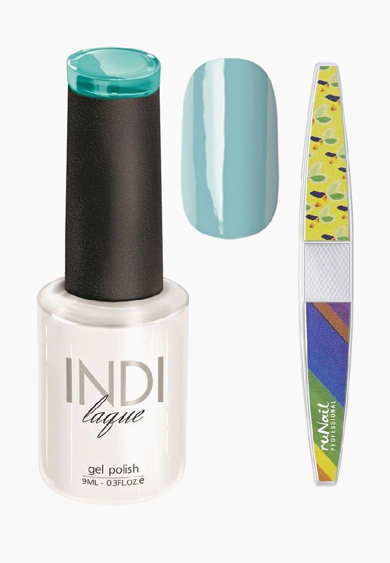 Набор для нейл-арта RuNail Professional: пилка для ногтей + гель-лак Indi Laque, тон 3080, 9 мл vivienne sabo gel laque nail atelier гель лак для ногтей тон 119 12 мл