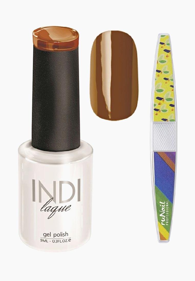 Набор для нейл-арта RuNail Professional: пилка для ногтей + гель-лак Indi Laque, тон 3090, 9 мл vivienne sabo gel laque nail atelier гель лак для ногтей тон 119 12 мл
