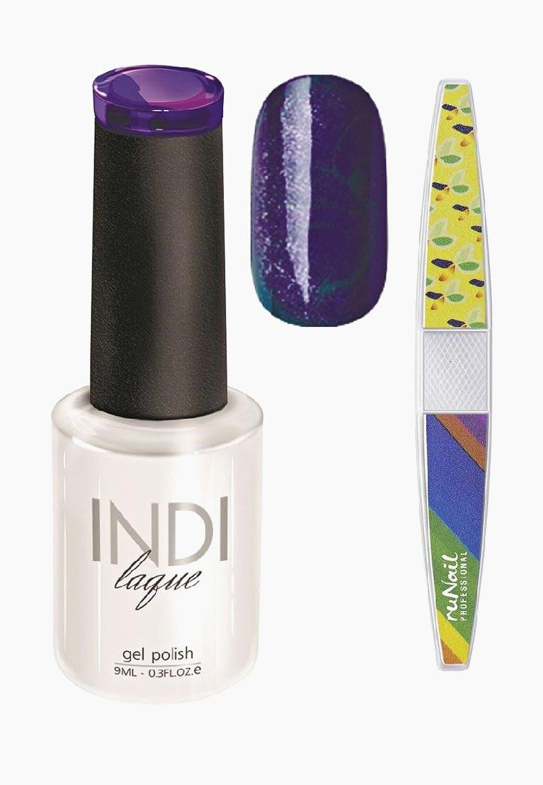 Набор для нейл-арта RuNail Professional: пилка для ногтей + гель-лак Indi Laque, тон 3099, 9 мл vivienne sabo gel laque nail atelier гель лак для ногтей тон 119 12 мл