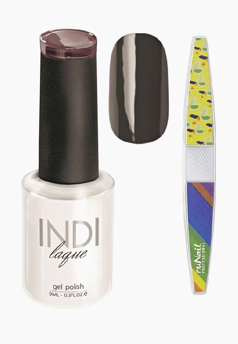 Набор для нейл-арта RuNail Professional пилка для ногтей и Гель-лак INDI laque Тон №3096 9 vivienne sabo gel laque nail atelier гель лак для ногтей тон 119 12 мл