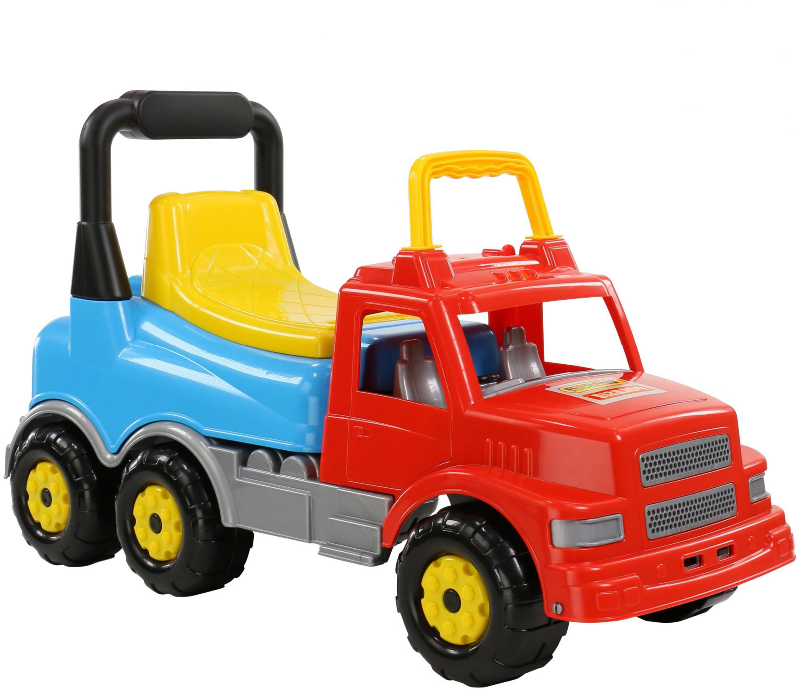 Автомобиль-каталка Полесье Буран №2, цвет: красный, голубой. 67128 wader 43801 каталка автомобиль буран 2