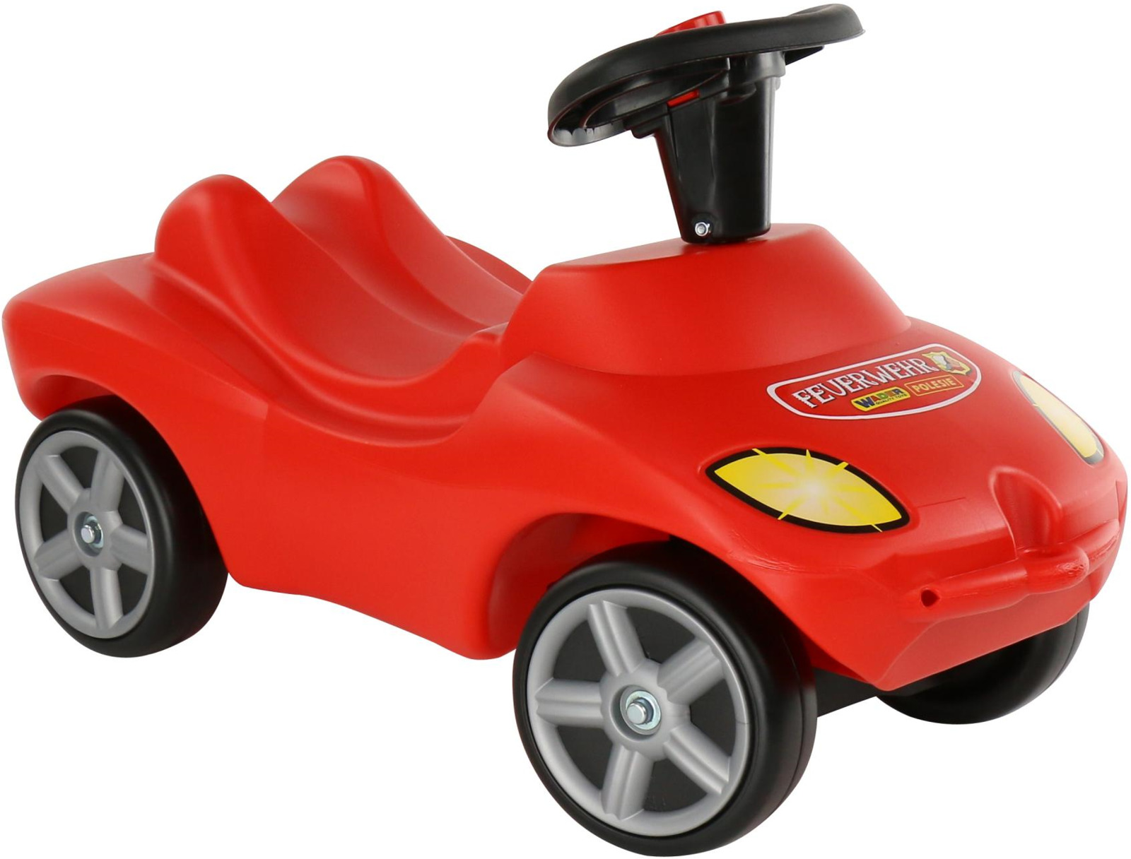 Автомобиль-каталка Полесье Пожарная команда, со звуковым сигналом, цвет в ассортименте автомобиль пластмастер малютка зефирки цвет в ассортименте 31172