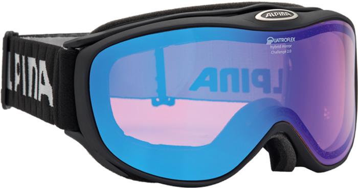 Очки горнолыжные Alpina Challenge 2.0 QM S2 (M40), цвет: черный, белый