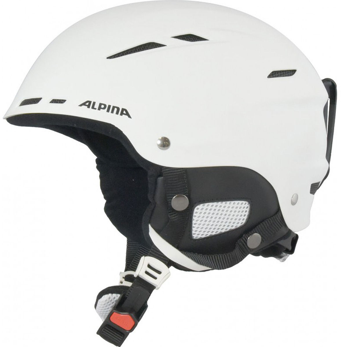 Шлем горнолыжный зимний Alpina Biom, цвет: белый, черный. Размер 54-58 см