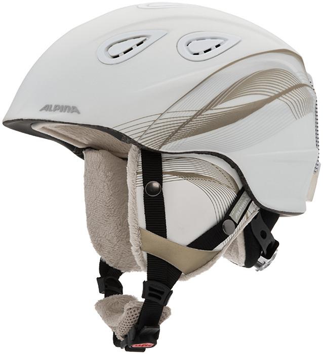 Шлем горнолыжный зимний Alpina Grap 2.0, цвет: белый, бежевый. Размер 57-61 см
