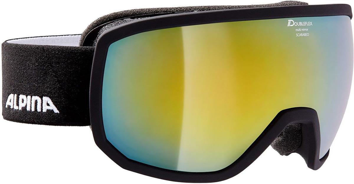 Очки горнолыжные Alpina Scarabeo JR. MM S3 (7-14), цвет: черный, разноцветный линза для маски shred clear доп линза двойная для soaza 81