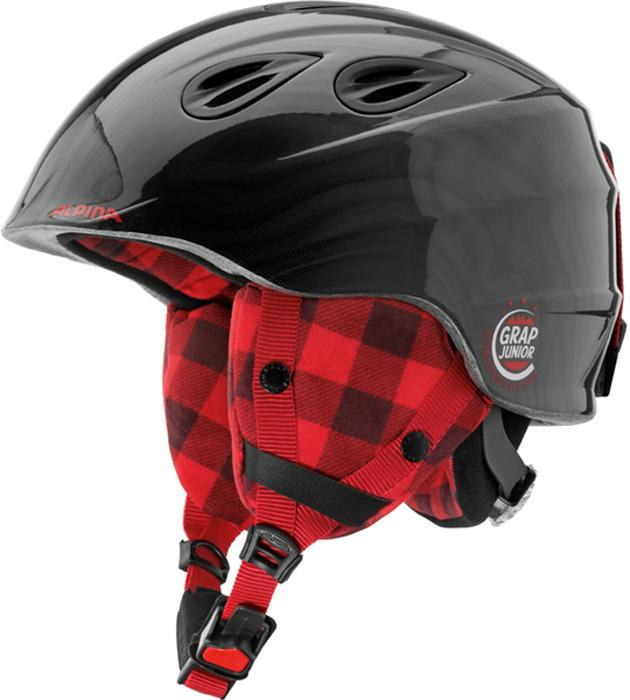 Шлем горнолыжный зимний Alpina Grap 2.0 JR, цвет: черный. Размер 51-54 см