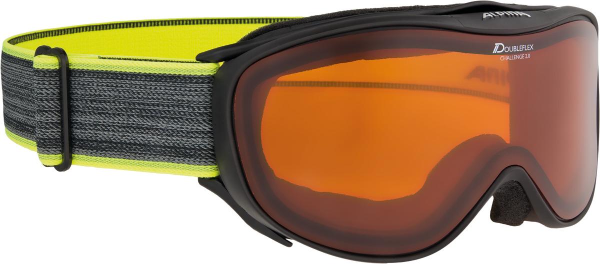Очки горнолыжные Alpina Challenge 2.0 DH S2 (M40), цвет: черный