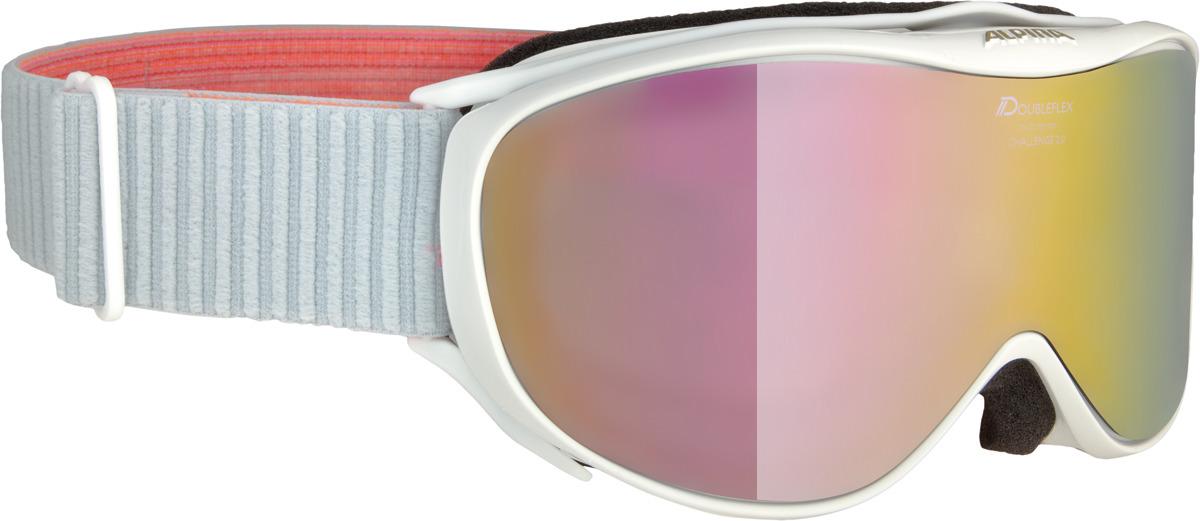 Очки горнолыжные Alpina Challenge 2.0 MM S2 (M40), цвет: белый, розовый