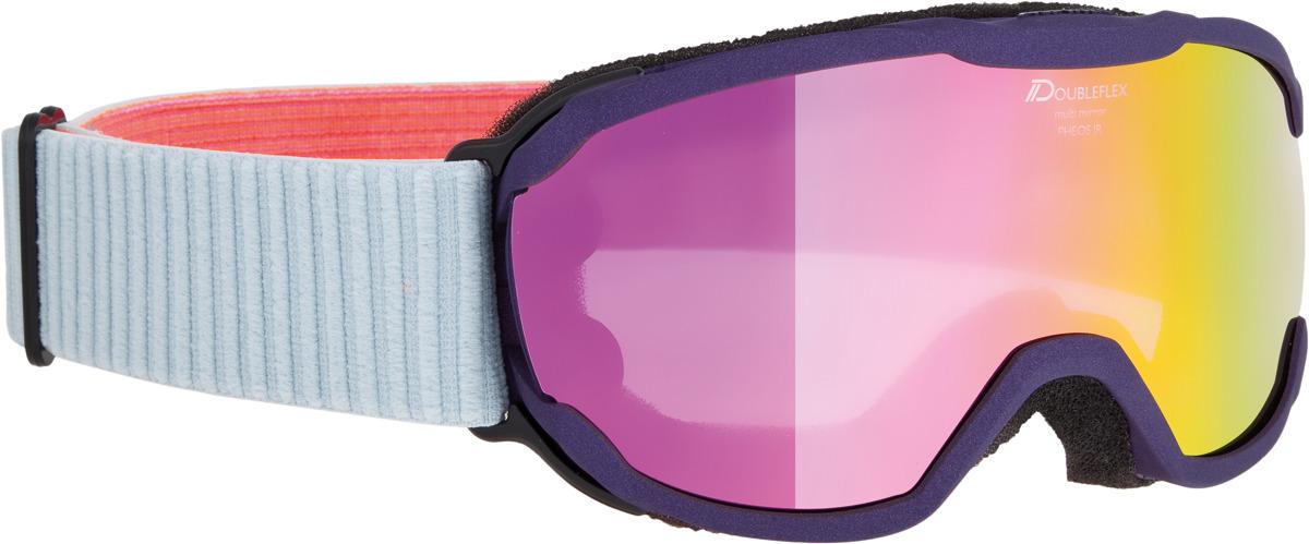 Очки горнолыжные Alpina Pheos JR. MM S2 (7-14), цвет: белый, черный, розовый