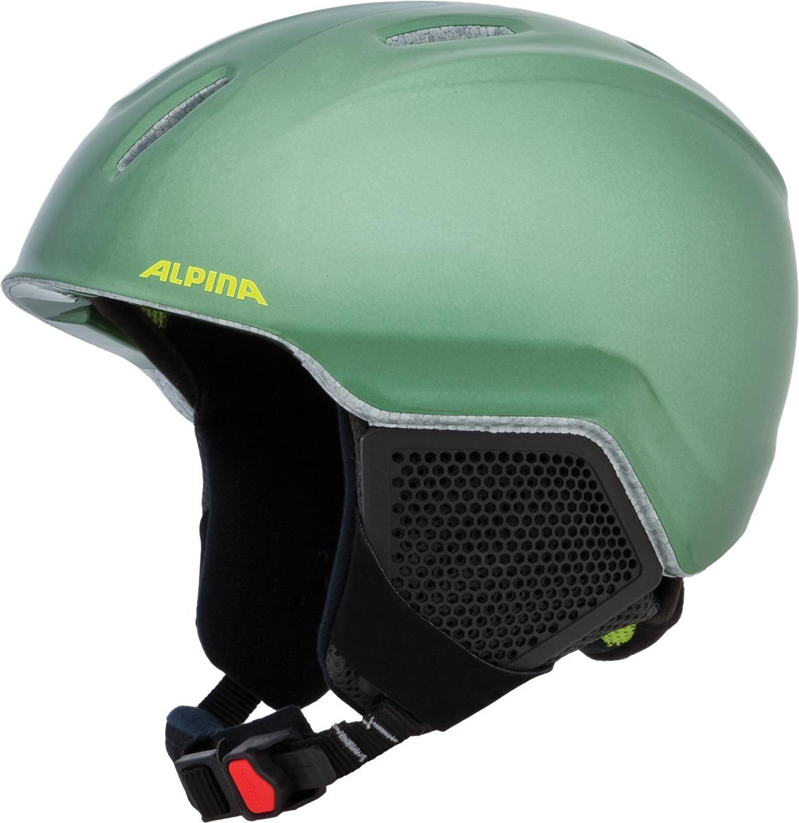 Шлем горнолыжный зимний Alpina Carat LX, цвет: зеленый, черный. Размер 51-55 см