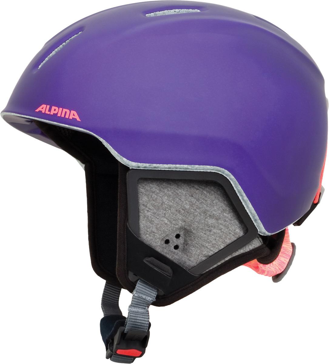 Шлем горнолыжный зимний Alpina Carat XT, цвет: фиолетовый, черный. Размер 54-58 см