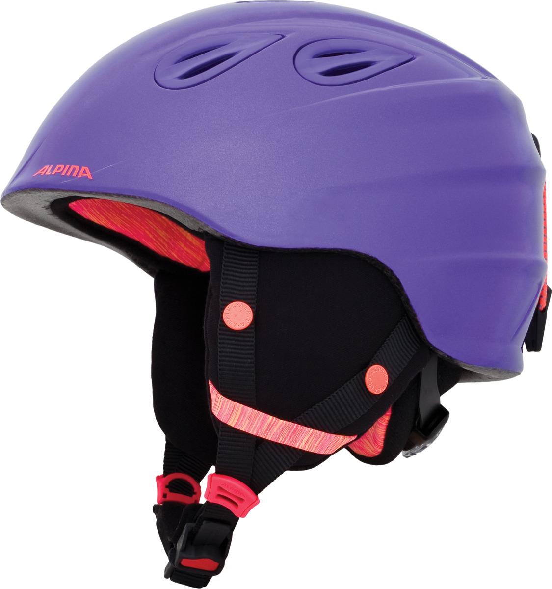 Шлем горнолыжный зимний Alpina Grap 2.0 JR, цвет: фиолетовый. Размер 51-54 см