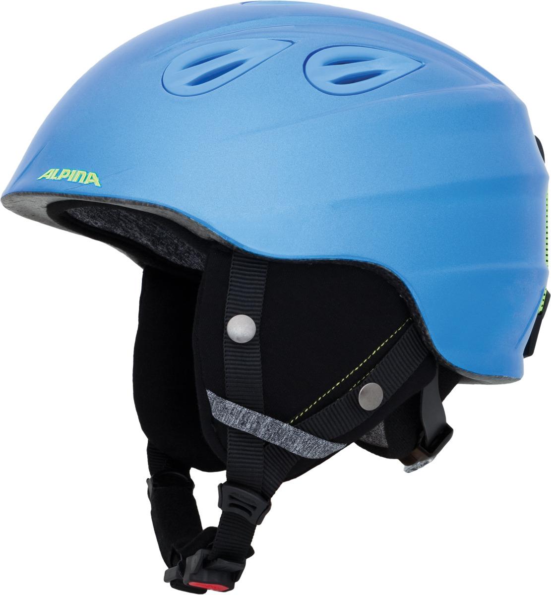 Шлем горнолыжный зимний Alpina Grap 2.0 JR, цвет: голубой. Размер 51-54 см